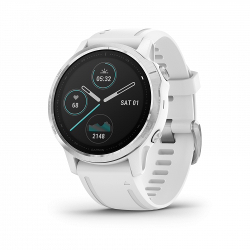 Garmin Fenix 6s Sport Silver with White Band   010-02159-00    *EXCLUSIVE*